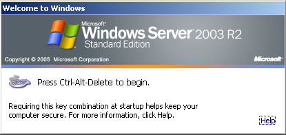 2003 R2 Server Logon