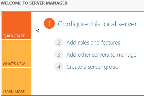 2012 R2 Server Manager