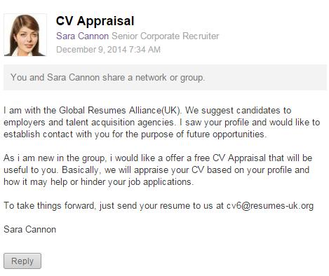 CV Appraisal offer