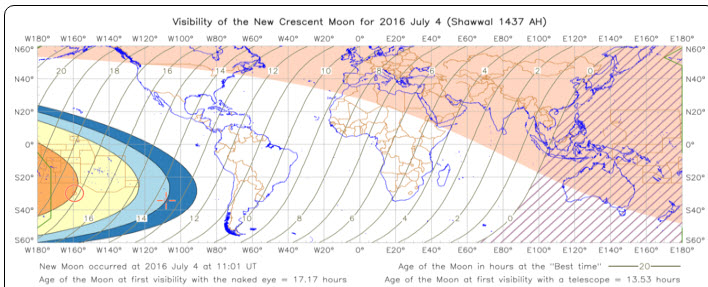 New-moon Mon 4th July 2016